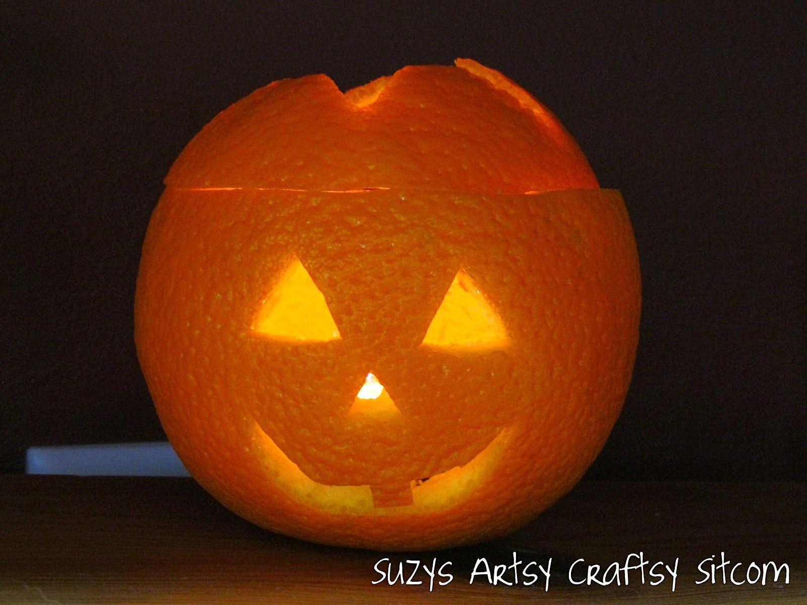 Jack O Lantern Faces On Oranges